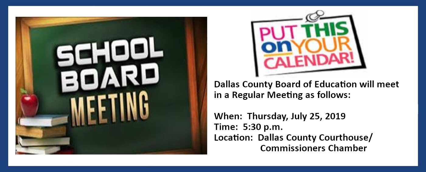 Click Read More to get the details of the next Dallas County BOE Meeting