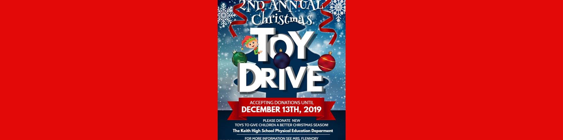 Physical Education Department Toy Drive at KMHS