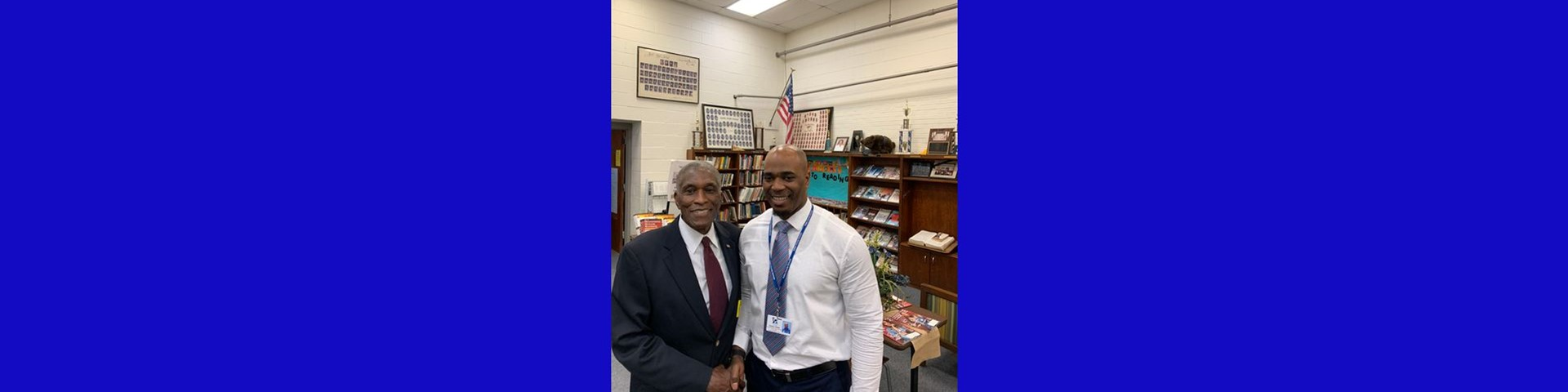 At Keith Middle- High, Principal Tisdale and Former Tuskegee Mayor Johnny Ford