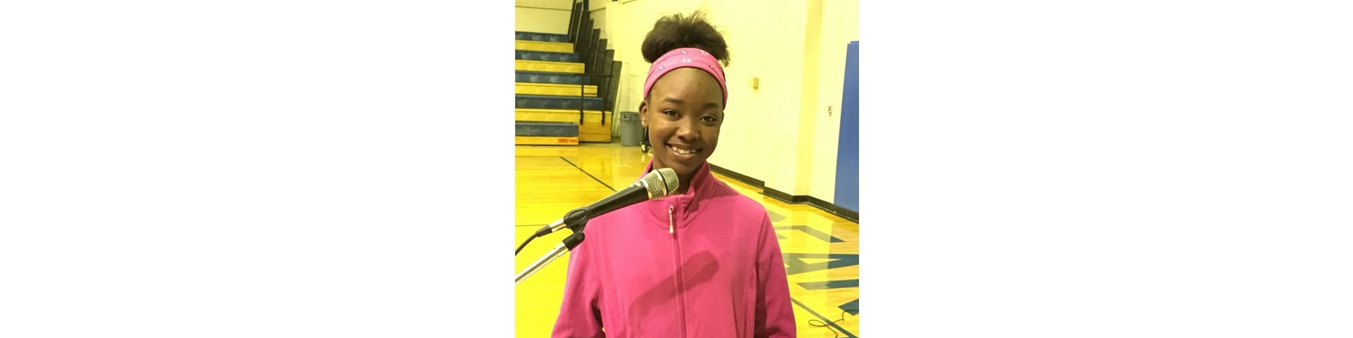 First place Spelling Bee winner, Jakira Moseley, will represent Keith Middle-High at The Countywide Spelling Bee, Friday, 09 February 2018.