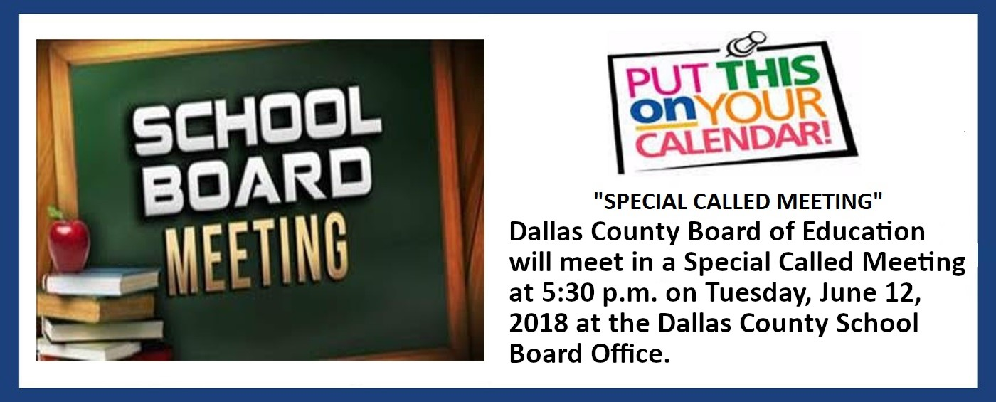 Board Meeting Announcement. Click Read More for more information.