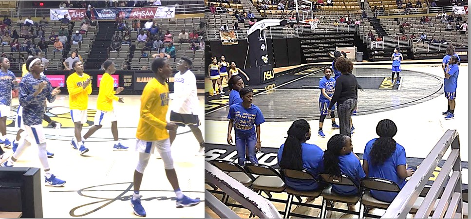 Keith Middle-High Varsity Bears and Lady Bears at the Alabama State Dunn–Oliver Acadome